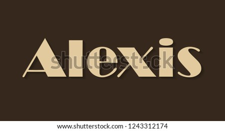 alexis beige shining name