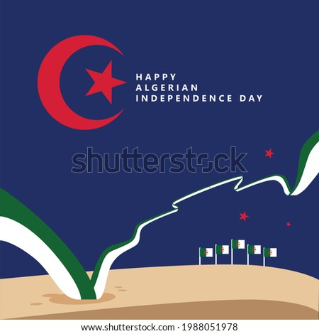 algeria independence day with a