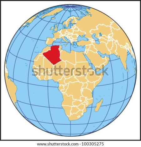 Algeria Locate Map