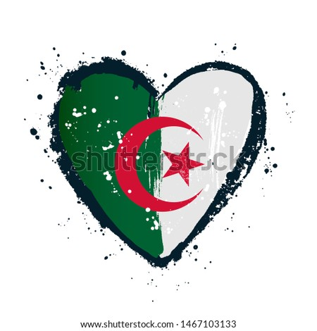algerian flag in the form of a