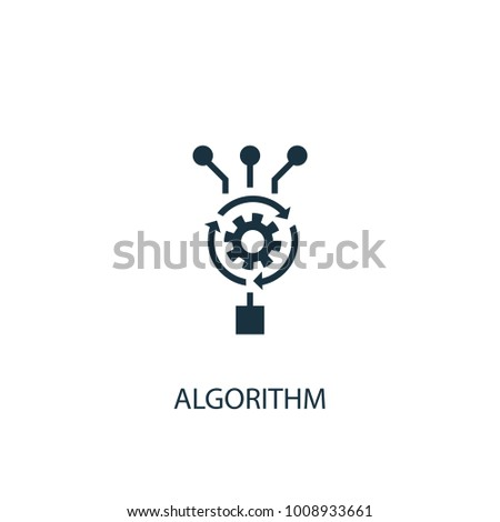 Algorithm icon. Simple element illustration. Algorithm symbol design from Artificial Intelligence collection. Can be used in web and mobile.