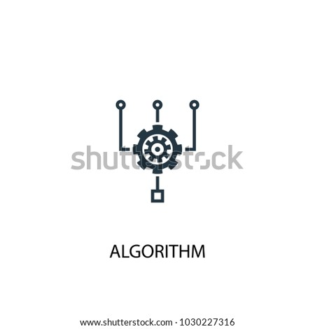 Algorithm icon. Simple element illustration. Algorithm symbol design from Big data, database collection. Can be used for web and mobile.