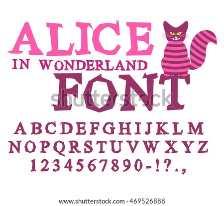 alice in wonderland font fairy