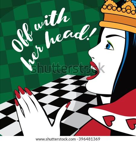 alice in wonderland queen of