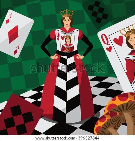 alice in wonderland title queen