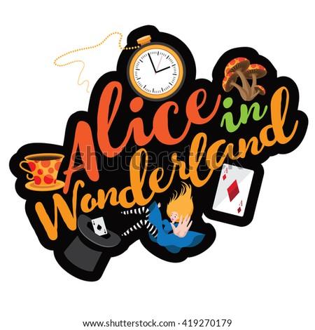alice text design eps 10