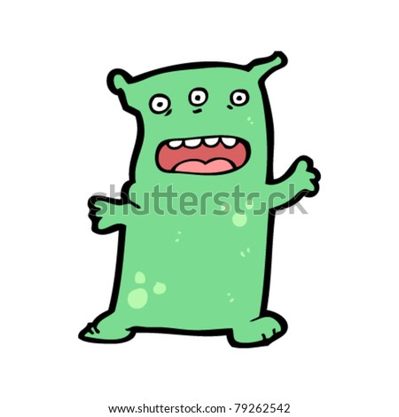 Cartoon alien on cartoon running alien cartoon hold a sign find