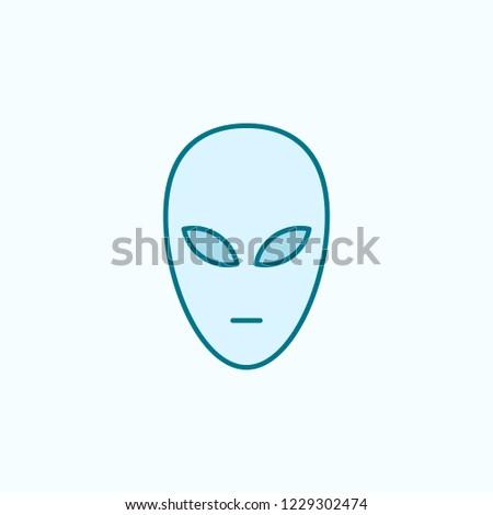 alien 2 colored line icon