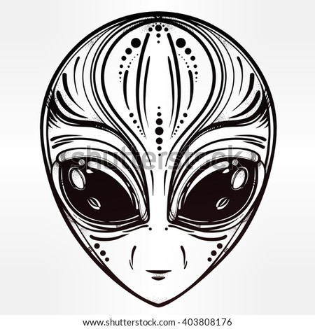 alien face icon halloween