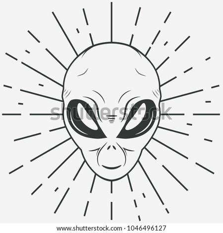 alien face tee stump  humanoid