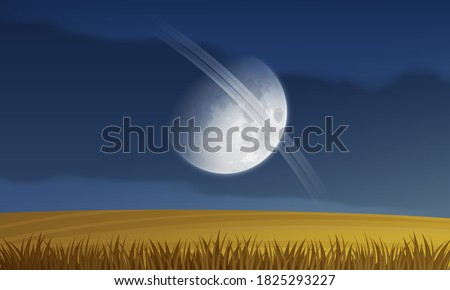 alien fantasy landscape with