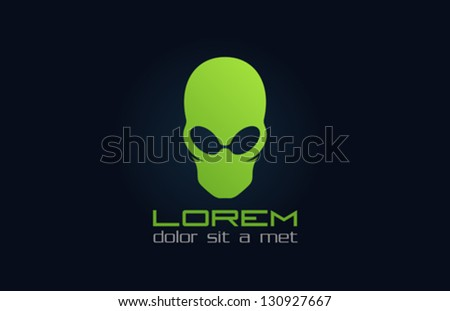 alien green logo template