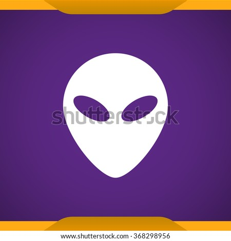 alien head icon for web and