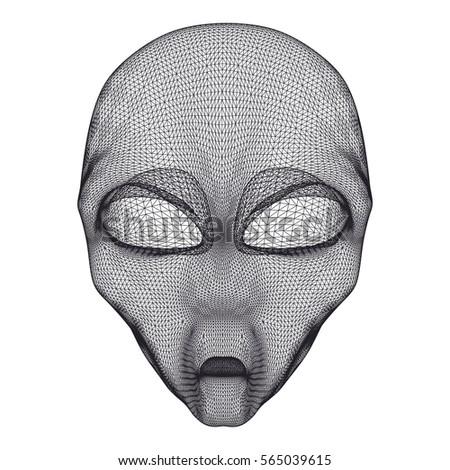 alien head mesh