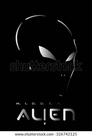 alien  hidden metallic alien