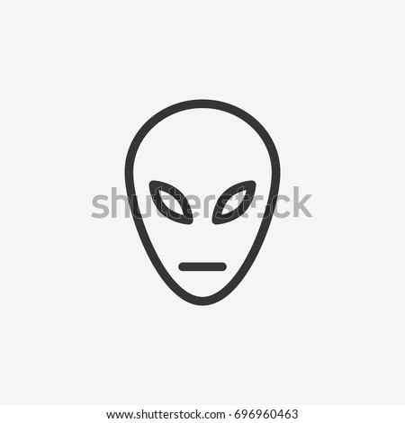 alien icon illustration