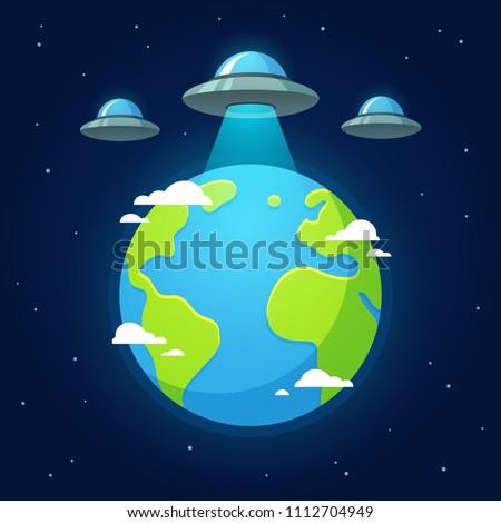 alien invasion  flying saucer