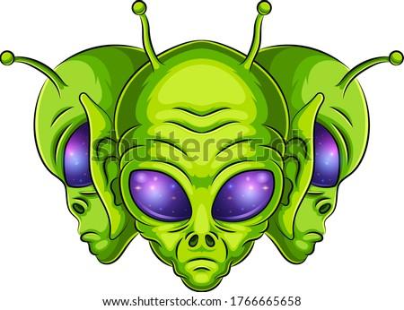 alien mascot logo vector