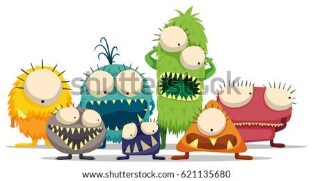 alien monster character doodle