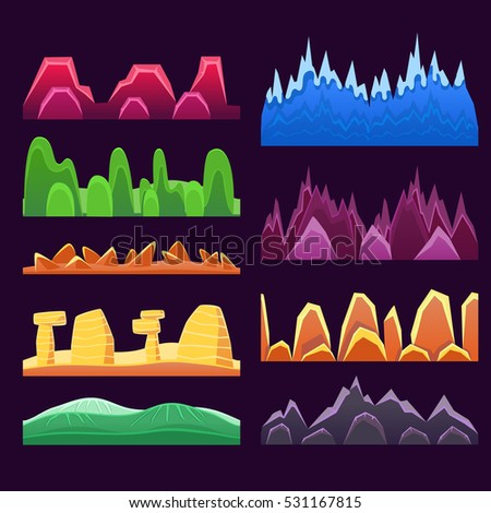 alien mountains and colorful