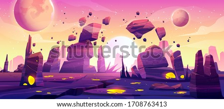 alien planet landscape for
