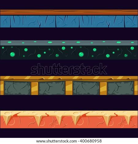 alien planet platformer level