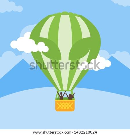 alien printed hot air balloon