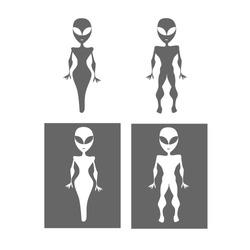 Alien restroom symbols