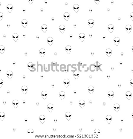 alien seamless pattern