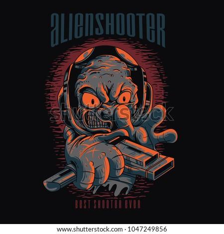 alien shooter illustration