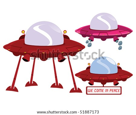 Alien Terrestrial Spacecraft Concept Illustration in Vector