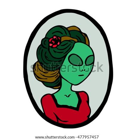 alien vector illustration