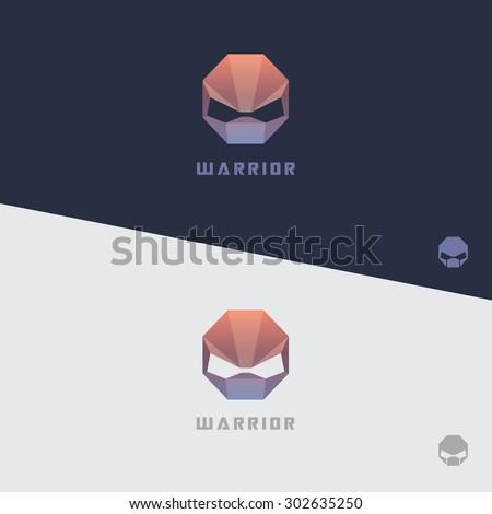 alien warrior mask  low polygon
