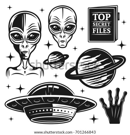 aliens and ufo set of