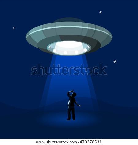 aliens spaceship abducts the