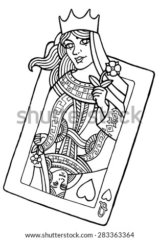M/playing Card King Coloring Coloring Pages