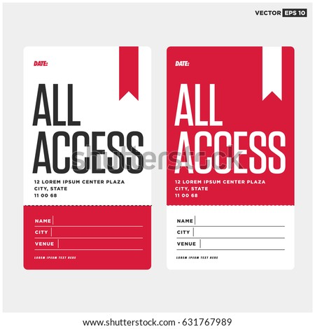 All Access Pass Template