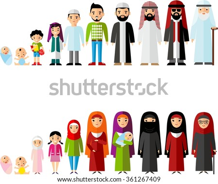 all age group of arab family