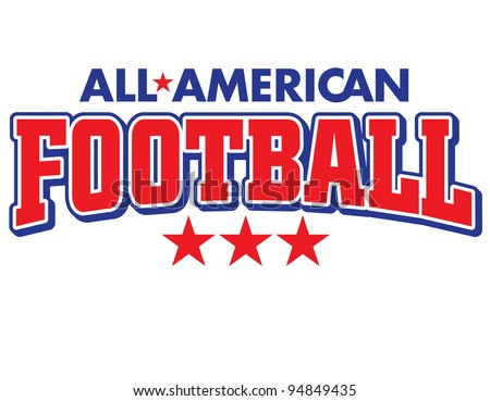 All-American Football Vector Lettering