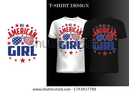 all american girl t shirt4th