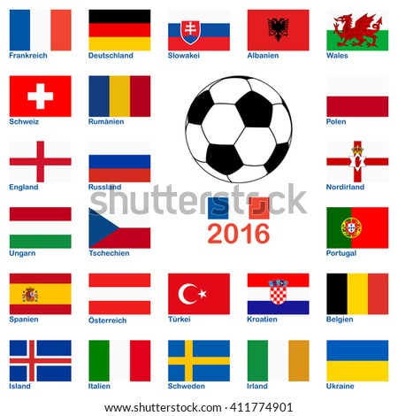 all flags of national teams of