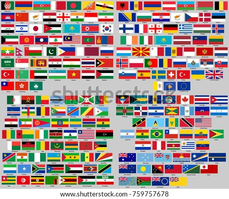 all flags of the world correct