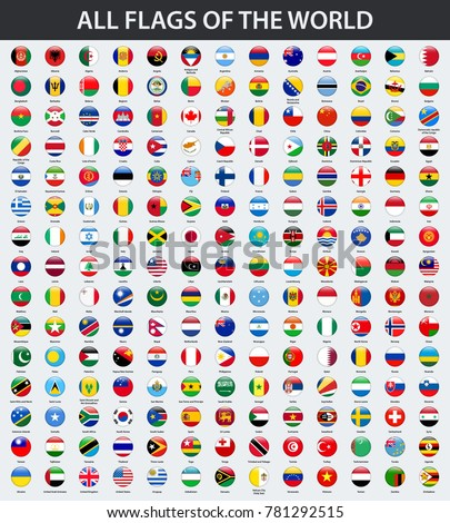 all flags of the world in