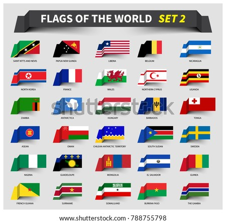 all flags of the world set 2
