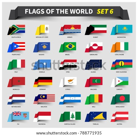 all flags of the world set 6