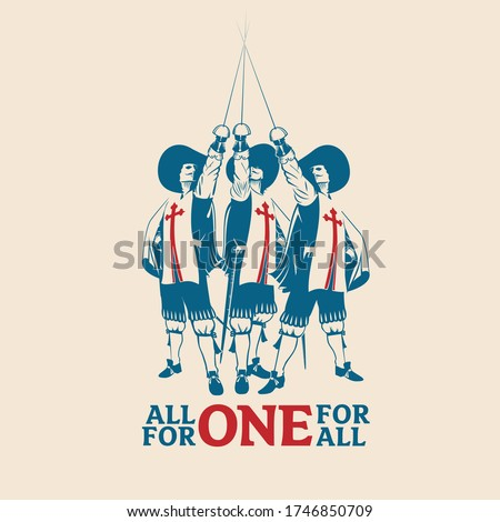 all for one for all vector