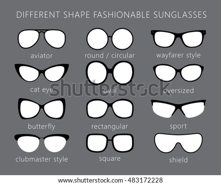 f006a31262 Sunglasses Abstract Vector Illustration Background. All forms   types of  fashionable sunglasses. Aviator