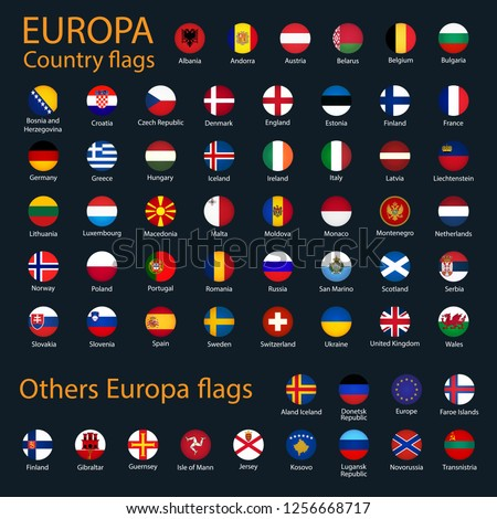 All icon europe flags