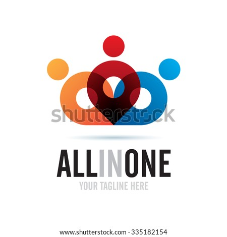 All In One Icon Logo Element ストックフォト ©