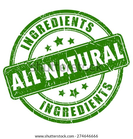 all natural ingredients vector